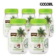 코코엘 유기농 엑스트라버진 코코넛오일 415ml 5병+코코넛샴푸 500ml 1병