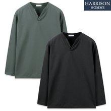 [해리슨] 단작 오버핏 R 긴팔 티셔츠 RTW1590