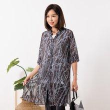마담4060 엄마옷 패턴트임롱셔츠 QBL907140
