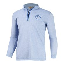 [파파브로]남성 골프웨어 긴팔 반집업 티셔츠 LM-A-T203-블루