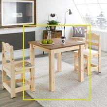여울 레드파인원목 2인식탁테이블