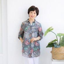 마담4060 엄마옷 꽃이좋아롱셔츠 QBL905081