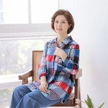 마담4060 엄마옷 사각사각카라티셔츠 QDTE906005