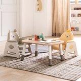 뚜뚜 높이조절 아이 책상 의자세트 (병아리 베어)