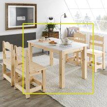 여울 레드파인원목 4인식탁테이블