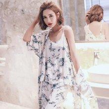 모스트0623-2 잉크꽃 여성 잠옷 로브가디건 3종세트