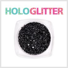 [ALICA 엘리카] 홀로글리터 라운드1mm 블랙 -H169-