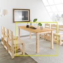 여울 레드파인원목 6인식탁테이블