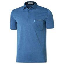 [파파브로]남성 캐주얼 반팔 카라 티셔츠 LM-H5805-4-블루