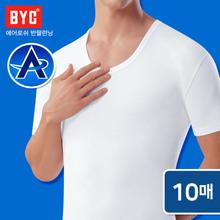 [BYC] 남성 에어로쉬 반팔런닝 10매세트/상쾌한착용감/스포츠/티반