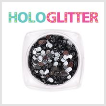 [ALICA 엘리카] 홀로글리터 라운드2mm 미러블랙 -H158-