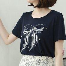 [웬디즈갤러리]실버리본 티셔츠 RTS015