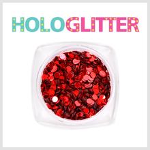 [ALICA 엘리카] 홀로글리터 라운드2mm 레드 -H157-