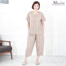 잔꽃패턴 인견상하세트홈웨어 -HS1081- 모슬린 엄마옷
