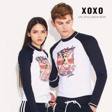 XOXO 도그서퍼 남녀 커플래쉬가드 수영복 RA6161