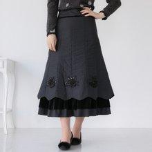 마담4060 엄마옷 플라워패딩롱스커트 ZSK912001