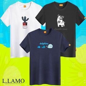 [엘라모] 반팔티셔츠 기본핏 다양한 디자인 남녀공용 빅사이즈 S~4XL