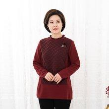 마담4060 엄마옷 지그재그배색티셔츠-ZTE912085-