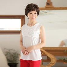 마담4060 엄마옷 레이스플라워나시 QMSL903001
