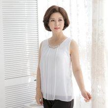 마담4060 엄마옷 나만바라봐구슬민소매 QSL906011