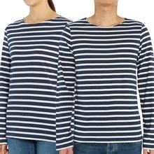 [세인트제임스] 밍콰이어 모던 스트라이프 9858 FA 남여공용 긴팔티셔츠