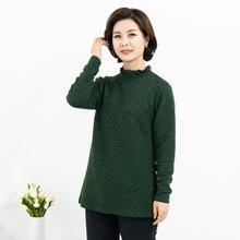 마담4060 엄마옷 물방울반폴라티셔츠-ZTE912090-