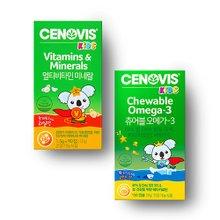 [세노비스] 키즈세트 (키즈멀티비타민 90정 + 키즈츄어블오메가3 150캡슐)