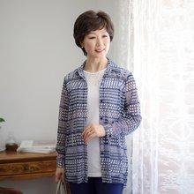 마담4060 엄마옷 나염패턴메쉬셔츠 QMBL903001