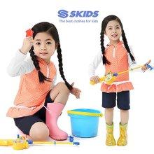 스키즈 아동 래쉬가드 후드짚업세트 SKG-B492WH(2PCS)/10~15세/실내수영복/워터파크용