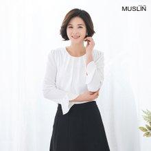 엄마옷 모슬린 단아한 진주 포인트 블라우스 BL003017