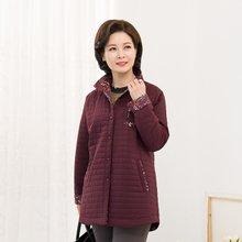마담4060 엄마옷 가을꽃배색점퍼 ZJP910012