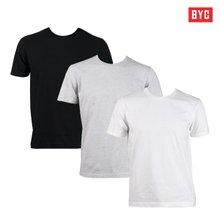 [BYC]국산 순면 반팔티셔츠/나시티 흰색/회색/검정/언더셔츠/교복티셔츠
