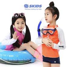스키즈 아동 래쉬가드세트 SKG-B483(2PCS)/7~15세/실내수영복/워터파크용