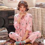 모스트2077B 플레르밍 여성 잠옷 홈웨어 세트 (2color)
