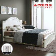 [라자가구]화이트 로맨스GM101 침대세트 퀸Q(독립매트리스)