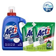 [2배강화!+피죤고농축 증정]*액츠 퍼펙트 세탁액체세제 3.5L+2.2Lx2