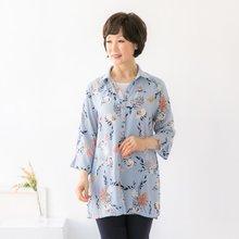 마담4060 엄마옷 샤방샤방플라워셔츠 QBL904078