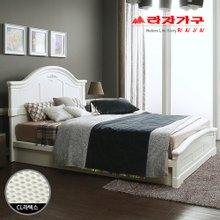 [라자가구]화이트 로맨스GM101 침대세트 퀸Q(150mm 통CL라텍스)