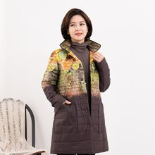 마담4060 엄마옷 투톤카라패딩점퍼-ZJP912038-