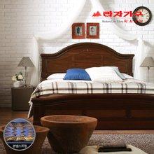 [라자가구]브라운 로맨스GM102 침대세트 퀸Q(본넬매트리스)