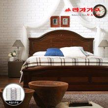 [라자가구]브라운 로맨스GM102 침대세트 퀸Q(독립매트리스)