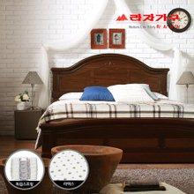 [라자가구]브라운 로맨스GM102 침대세트 퀸Q(라텍스독립매트리스)