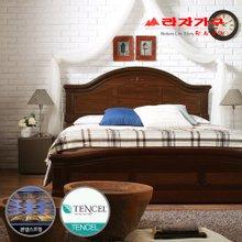 [라자가구]브라운 로맨스GM102 침대세트 퀸Q(텐셀본넬매트리스)