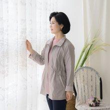 마담4060 엄마옷 배색카라점퍼-ZJP004001-