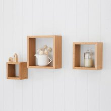 [홈앤하우스] 큐브 벽걸이 다용도선반 3종세트