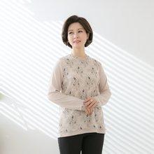 마담4060 엄마옷 망사플라워티셔츠 QMTE902001
