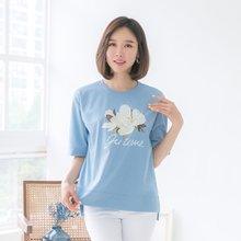 마담4060 엄마옷 언제나행복해티셔츠 QTE905019