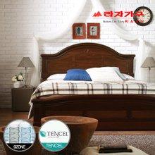 [라자가구]브라운 로맨스GM102 침대세트 퀸Q(텐셀 9zone독립매트리스)