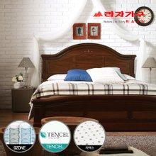 [라자가구]브라운 로맨스GM102 침대세트 퀸Q(텐셀라텍스 9zone독립매트리스)