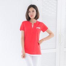 마담4060 엄마옷 레이어드포켓티셔츠 QTE905017